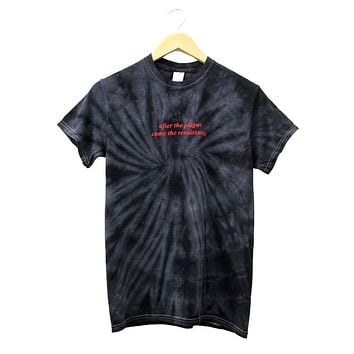 After the Plague Came the Renaissance Black Tie-Dye Unisex Tee