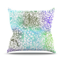 "Vikki Salmela ""Blue Bloom Softly for You"" Throw Pillow"