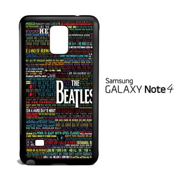 the beatles typography song lyric Samsung Galaxy Note 4 Case