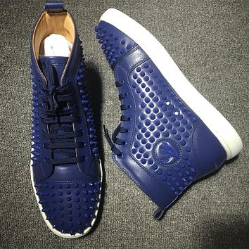 Christian Louboutin CL Louis Spikes Style #1848 Sneakers Fashion Shoes Online