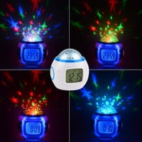 B20 Music Alarm Clock With Calendar Thermometer Star Sky Projection Thermometer  D_L (Color: White & Blue) = 1713243140