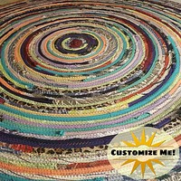 4' Colorful Round Rug, Handmade to Order YOU Choose Colors!