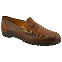 Bill Latigo Leather Loafer in Chestnut Brown by Martin Dingman