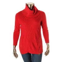 INC Womens Knit Long Sleeve Pullover Sweater
