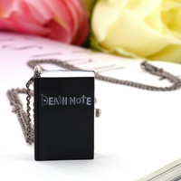 Vintage Death Note Book Quartz Pocket Watch Pendant Necklace Gift hot sale