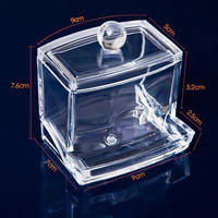 New Clear Acrylic Cotton Swab Organizer Stick Box Cosmetic Holder Makeup Storage
