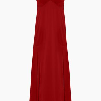 Slip A Line Long Dress - Red
