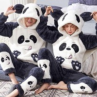 Unisex Sleepwear Flannel Pajamas Set