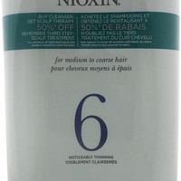 nioxin - system 6 cleanser & scalp therapy conditioner duo