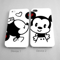 Mickey Mouse And Minnie Mouse Kisses Couples Phone Case iPhone 4/4S, 5/5S, 5C Series, iPhone 6, 6plus - Hard Plastic, Rubber Case