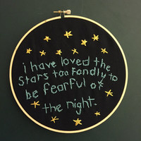 """Galileo """"I Have Loved The Stars"""" Quote 8"""" Embroidery Hoop"""