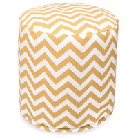 Yellow Chevron Small Pouf