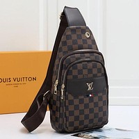 LV Louis Vuitton Women Fashion Leather Crossbody Satchel Chest Bag