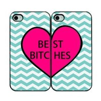 Best Bitches Two IPhone Cases - IPhone 4/4s Cases - Black