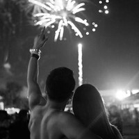 boy, couple, date, fireworks, girl, hug, love, night - image #2183889 by KSENIA_L on Favim.com