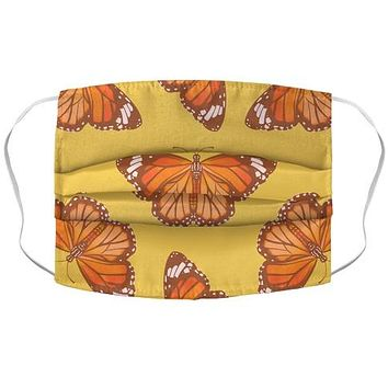 Warm Monarch Butterfly Face Mask Cover