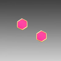 gorjana Electric Disc Studs in Neon Pink from REVOLVEclothing.com