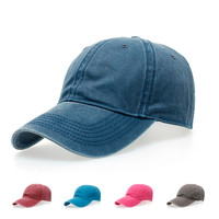 Canvas brand baseball cap 100% Washed Combed Cotton Fashion Casual Vintage (multi color)
