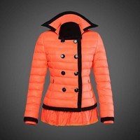 Moncler reduced Dali low collar quilted down jacket for women Orange