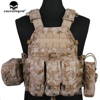 EMERSON GEAR LBT6094A Style Vest with Pouches Airsoft Painball Military Army Combat Gear EM7440G AT/FG AOR1 AOR2 KH CB MR HLD