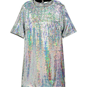 Short Sequined Dress - from H&M