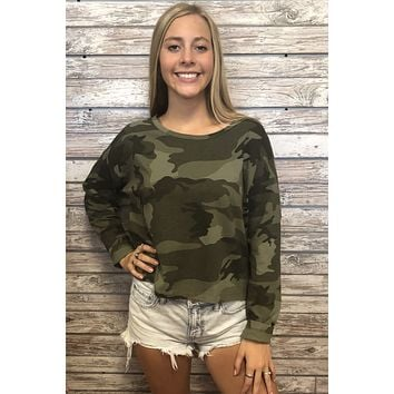 Fall For You Top- Camo