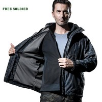 FREE SOLDIER outdoor tactical military  jacket Men Windbreaker Waterproof Hoodie Clothes