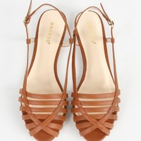 Bamboo Lynda-17 Caged Peep Toe Sandals | MakeMeChic.com