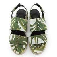 Palm-print espadrille sandals by House of Hackney – fashion buy of the day