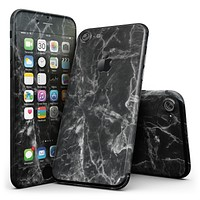 Smooth Black Marble - 4-Piece Skin Kit for the iPhone 7 or 7 Plus