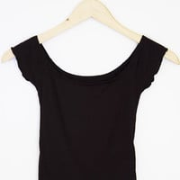 Off-The-Shoulder Solid Ribbed Top (More Colors)