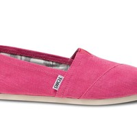 Toms Shoes Classic Slip On (Earthwise pink) Shoes Womens Shoes at 7TWENTY Boardshop, Inc
