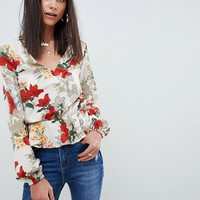 Missguided Tall Floral Blouse at asos.com