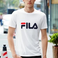 FILA 2019 new cotton round neck fashion casual sports top white