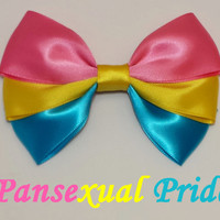 Pansexual Pride Hair Bow