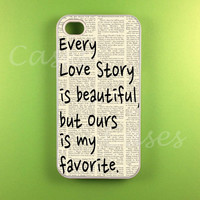 Iphone 4s Case - Our Story Iphone Case, Iphone 4 Case