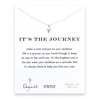 it's the journey north star necklace, sterling silver