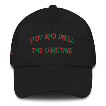 Smell the Christmas Dad Cap