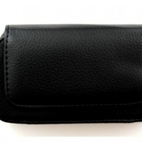 •Carrying Case / Belt Holster Clip Pouch For Lifeproof iPhone 4/4s Case - Black Synthetic Leather