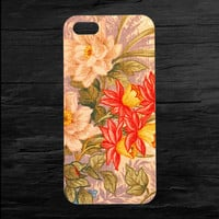 Flowery Floral Print iPhone 4 and 5 Case
