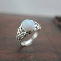The Saga jewelry moonstone ring bella inspired The oval silver necklace [R116A] : The water for design jewelry