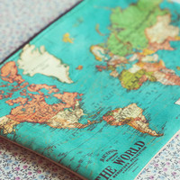 The world map small zipper pouch coin purse.Custom World Map Make Up Bag.World Map pencil case..Vintage map purse.Travel bag.Vanity case