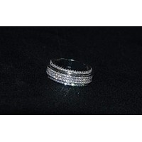 New summer Inlaid Crystal from Swarovski ring For Women Fashion 925 Jewelry Rings Rotatable Wedding Ring