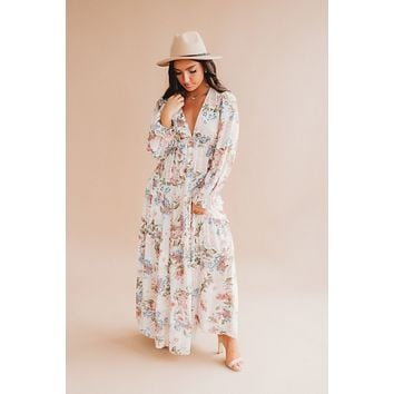 Here's To Forever Maxi (Sand Floral)