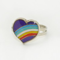 Mood Changing Rainbow & Heart Ring