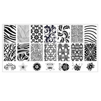 6*12cm Stainless Steel Nail Art Stamping Plates Geometric Sports Nails Template Stamp