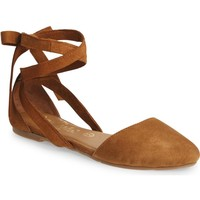 Callisto Anneka Lace-Up d'Orsay Flat (Women) | Nordstrom