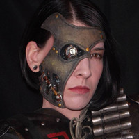 Steampunk CY BORG Custom Costume Half Mask - Original - RAW - One Size - Unisex - Ready to trim/paint/haunt