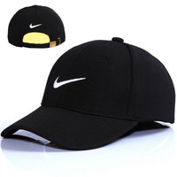 Nike Embroidered Cotton Adjustable Black Golf Baseball Cap