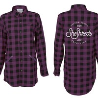 Berry & Black Flannel Shirt
